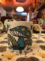 BL/GR ドット柄Mushroom Mug