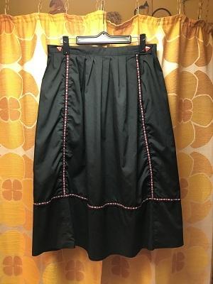 画像1: チロリアンFLOWERライン Triangleボタンスカート