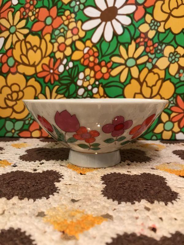 画像1: FLOWER柄お茶碗