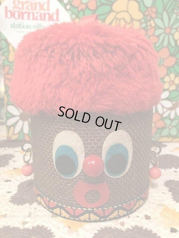 画像1: フワフワヘアーにピンクのイヤリング ヒョコッとお顔の小物入れ
